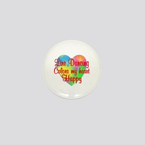 Line Dancing Colors Hearts Mini Button